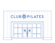 Club Pilates studio front illustration