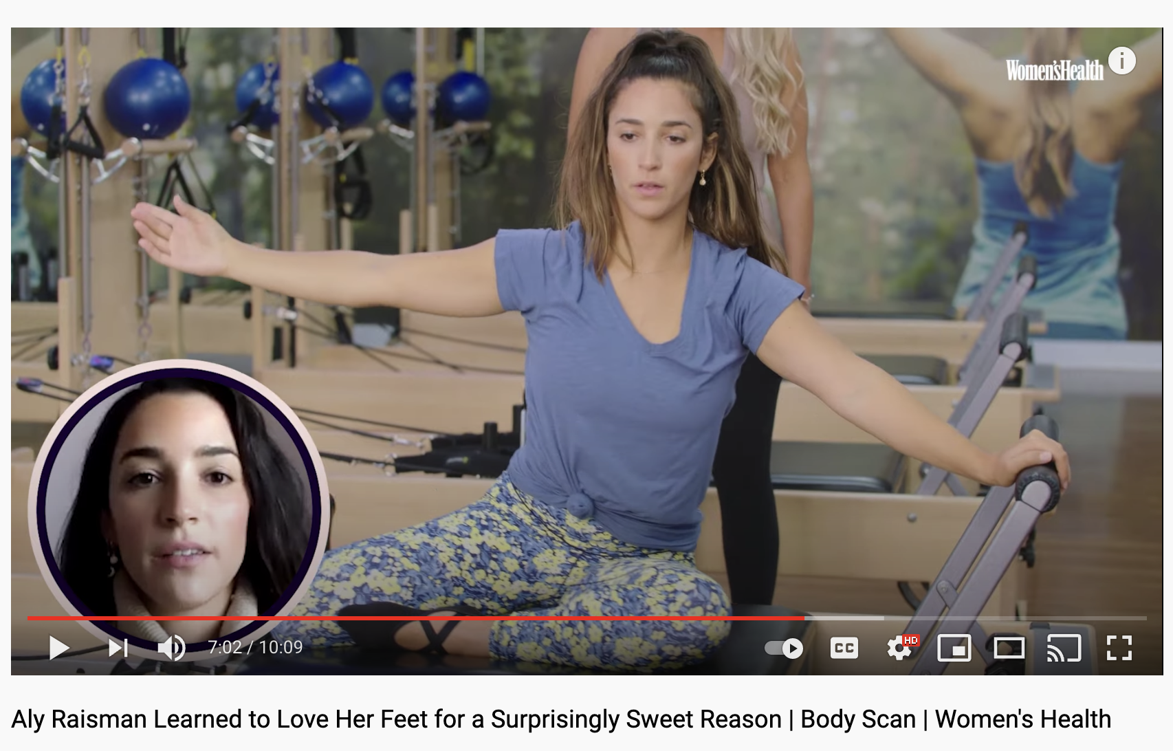 Women's Health Youtube Highlights Aly Raisman and her Partnership with Club Pilates
